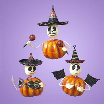 6 Halloween Ornaments - Three Different Styles