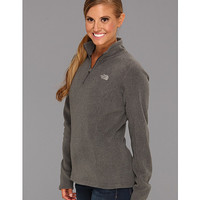 The North Face Glacier 1/4 Zip Moonlight Ivory (High Rise Grey logo) - Zappos.com Free Shipping BOTH Ways