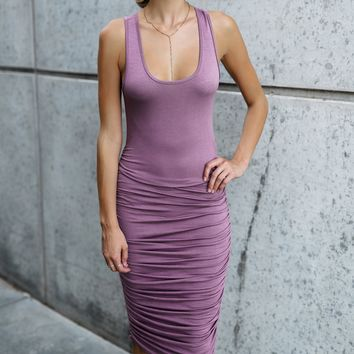 the Tanner Dusty Lilac Tank Dress