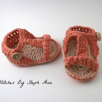 crochet baby sandals, cute baby clothes, baby girl clothes, baby spring booties, baby shower gift