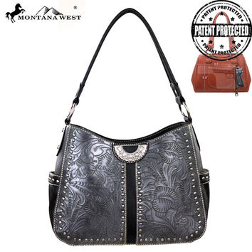 Montana West MW157G-8291 Tooling Concealed Carry Handbag