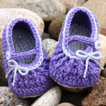 Baby Mary Janes, Baby Girl Booties, Crochet Booties with Strap, Cotton Mary Janes, Cotton Baby Slippers