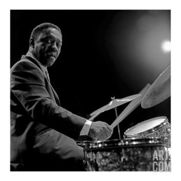 Art Blakey I Art Print by Lee Tanner at Art.com