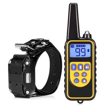 2017 New Dog Collar Waterproof Rechargeable Electric Dog Training Collar With Remote Controller Electric Pet Dog Training Collar