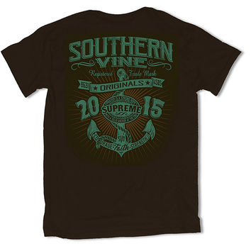 Southern Vine Originals Supreme Anchor Chocolate T-Shirt