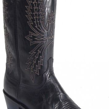 Lucchese Since 1883 Black Burnished Mad Dog Goat N1560