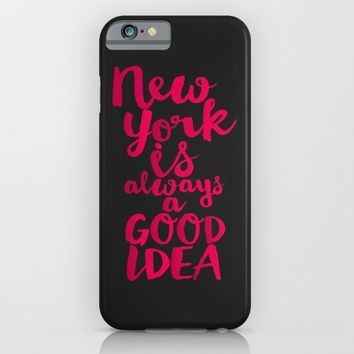 New York Is Always A Good Idea iPhone & iPod Case by Sara Eshak