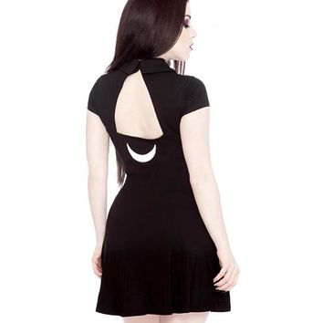 summer women dress harajuku punk style gothic letter black dress 2018 summer dress cotton dress womens clothing