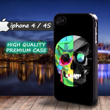 Black Skull iphone 4 Case Death Dead iphone 4s iphone 4 4s Case Casing 3D Silicone Hard case
