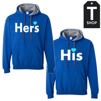 Hers - part of his and hers set Couple Hoodies