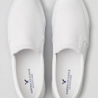 AEO Slip-On Flatform Sneaker , White