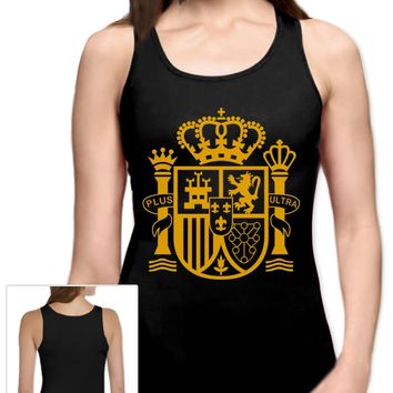 Spain Espana Ultras Women Tank Top World Cup National Football Team Soccer Vest
