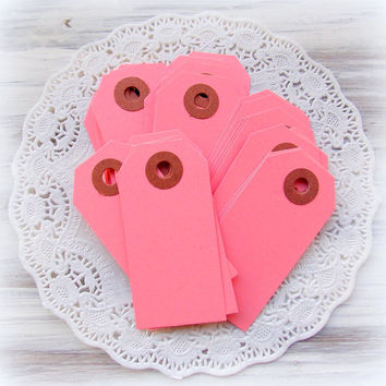 Small Pink Hang Tags / 15 Pieces / Junk Journal / Daily Planner / Tags / Journal