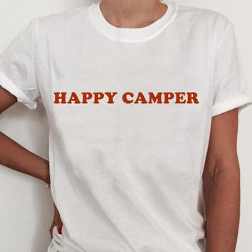 Happy Camper Women's Casual T-Shirt