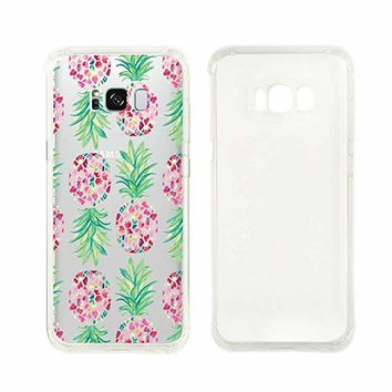 Cute Pineapple Pattern Transparent Silicon Plastic Phone Case Samsung Galaxy S8 Samsung Galaxy Covers Emerishop (Samsung S8)