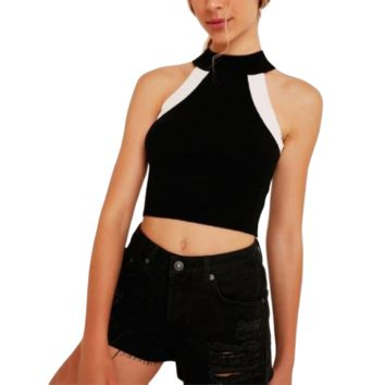 Women's Knitted Sleevless Holter Top