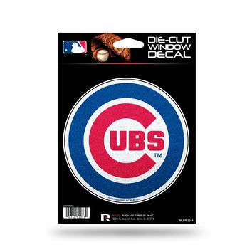 Chicago Cubs Decal 5.5x5 Die Cut Bling