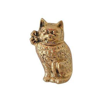 Pre-owned Brass Cat Door Knocker