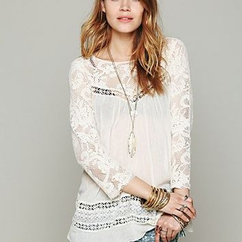 Free People Womens FP ONE Golden Age Top