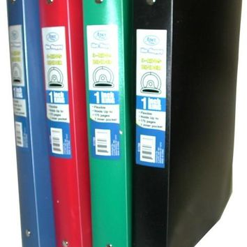 """Flexible Poly Binder - 1"""" - Solid Colors - CASE OF 48"""
