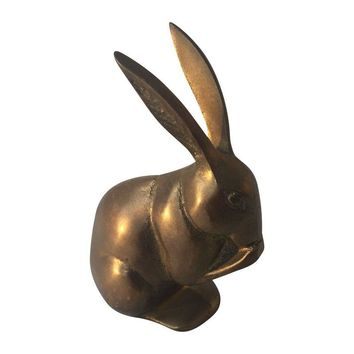 Pre-owned Vintage Brass Rabbit