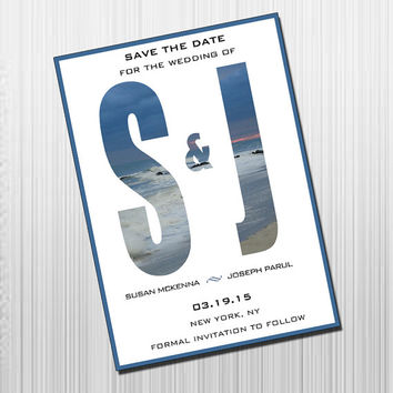 Initials Save the Date - DIY Printable Save the Date
