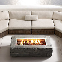 Woodgrain Natural Gas Fire Table