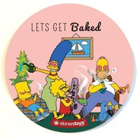 SIMPSONS LETS GET BAKED DAB MAT