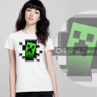Minyecraft Creep'r Inside, T shirt Cool and Tanktop Best for Ladies And Men