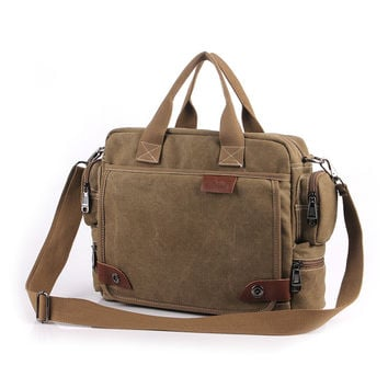 New Design! Bavi fashion canvas bag, male casual shoulder bags, men messenger bag, high quality canvas laptop briefcase