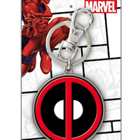 Dead Pool Logo Pewter Key Ring