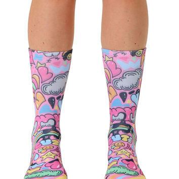 Laugh and Love Crew Socks