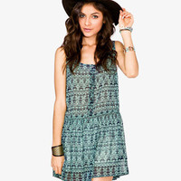 Sheer Tribal Print Dress