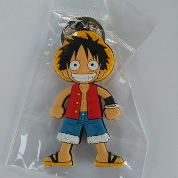 Brand New Anime One Piece Luffy Standing Keychain