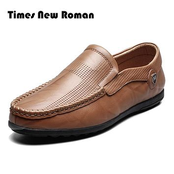 Fashion Handmade Genuine leather men Flats,Soft leather men Male Moccasins,High Quality Men Shoes