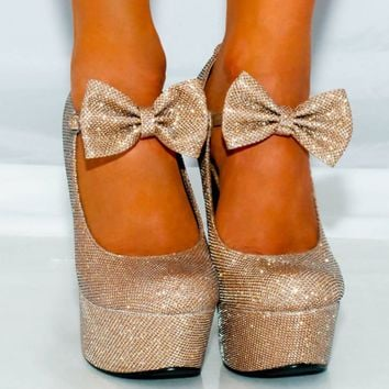 Wedges Shoes Womens Glitter High Heels Platforms Ankle Straps