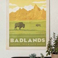 Anderson Design Group Badlands National Park Poster- Multi One