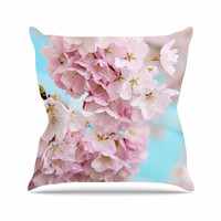 "Sylvia Cook ""A Pastel Spring"" Pink Floral Throw Pillow"