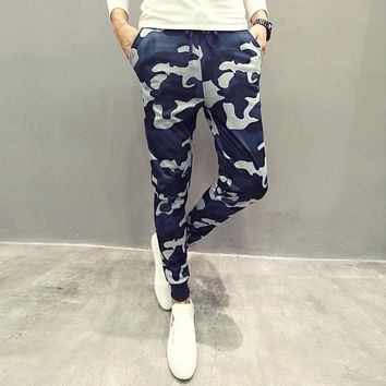 Men Pants Camouflage Harem Pencil Pants Skinny Sweatpants Trousers Man Camo Joggers