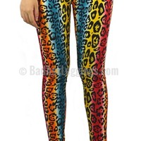 Rainbow Cheetah Leggings Design 405