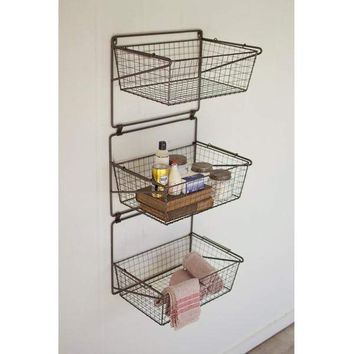 3 Tiered Wall Storage Baskets