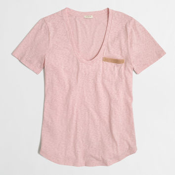 Factory sketched cotton pocket tee