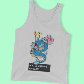 Gyarados Garydos Pokemon Gary Spongebob Mashup Men'S Tank Top