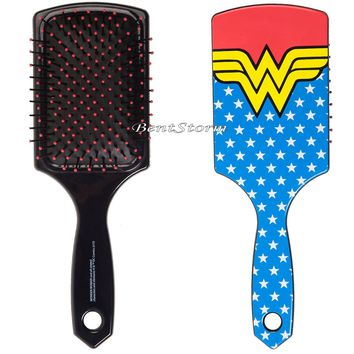 Licensed cool NEW DC  WONDER WOMAN LOGO Large Paddle Hair Brush Officially Licensed