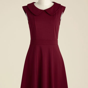 Foxtail & Fern A-Line Dress in Merlot | Mod Retro Vintage Dresses | ModCloth.com