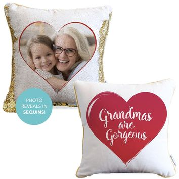 Grandmas are Gorgeous Sequin Pillow | COVER ONLY (Inserts Sold Separately)