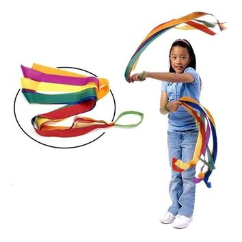 BESTORARD 12pcs Rainbow Ribbon Dance Ribbon Colored Ribbon