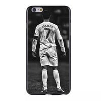 New arriva Football Superstar CF Cristiano Ronaldo Durable Hard Plastic Cover Case for Apple iPhone4 4S 5 5S 5G 5c 6 6S 6 Plus