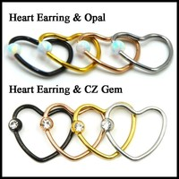 BUY 4 GET 2 FREE Heart Ear, Nose, Tragus, Daith Rings