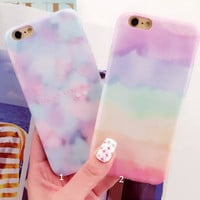 Tie Dye Gradient Cover Case for iPhone 5s 5se 6 6s Plus Gift + Gift Box 341